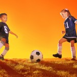 KID COUPLE FOOTBALL