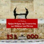 Μήνυμα Διεύθυνσης για την ημέρα μνήμης για την γενοκτονία των Ποντίων